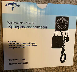 New Medline Wall Mounted Blood Pressure Monitor Aneroid Sphygmomanometer