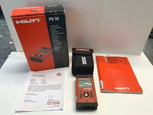 Hilti Laser Range Meter Pd30 With Books Box And Manual Tool Level