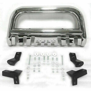 Front Bumper Bull Bar Grille Guard For 2005 2015 Toyota Tacoma Stainless Steel