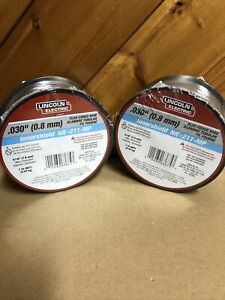 Lot Of 2 Lincoln Electric Ed031448 Mig Welding Wire nr 211 mp 030 Spool