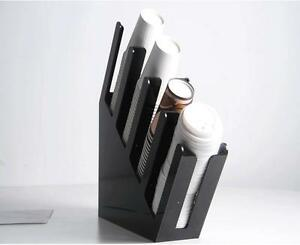 Paper Cup Lid Holder Dispenser Coffee Drink Stand Wedding Party Buffet 4sl Ddffg