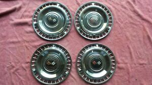 Set Of 4 1961 Chevrolet Impala Wheelcovers 61 Chevy Hubcaps