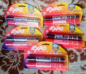 Expo Dry Erase Marker 2pk Red black With Ink Indicator Lot Of 5 Free Priority