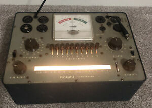 Vintage Knight Tube Tester 83xy142 83yx143 Allied Radio Chicago With Manual