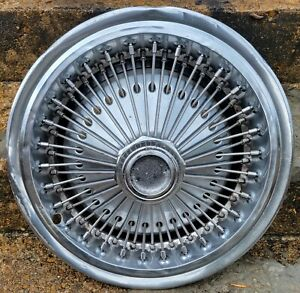 Vintage Oem 1971 78 Chrysler Dodge Plymouth 15 Wire Spoked Hubcap Wheel Cover