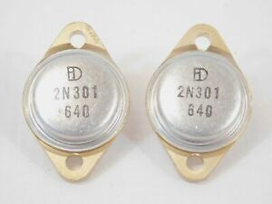 International Devices 2n301 Vintage Power Transistor Pair Nos many Available
