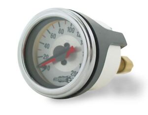 Air Lift 26228 Dual Needle 200 Psi 2 Diameter Air Gauge W Barbed Fittings