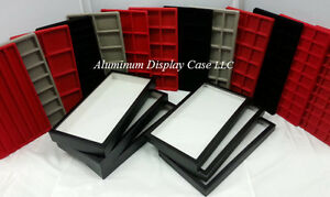 12 riker Mount Display Case 14 X 8 10 Slot Red Insert