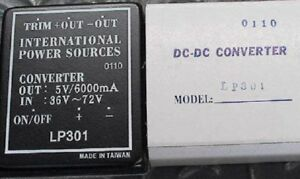 Lp301 Dc dc Power Converter 36 72v In For 5v Out 6 Amps