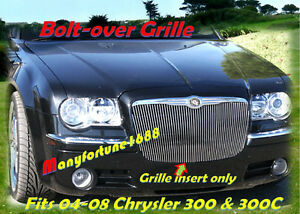 05 10 2005 2006 2007 2008 2009 2010 Chrysler 300 300c Billet Grille Vertical