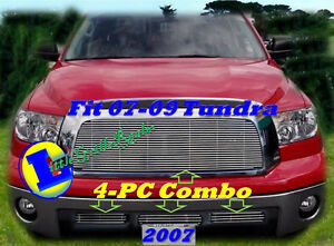 07 08 09 2008 2007 2009 Toyota Tundra New Billet Grille Comb 4pc