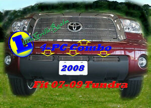 07 08 09 2007 2008 2009 Toyota Tundra Billet Grille Comb 4pc Logoshow