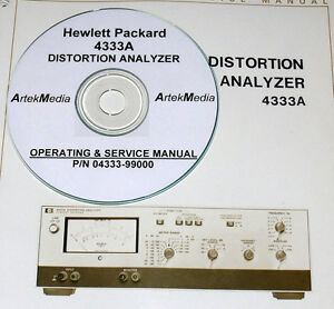 Hp 4333a Distortion Analyzer Operating Service Manual