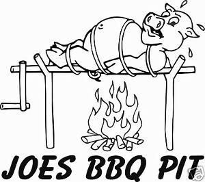 Bbq Pork Pig Barbecue Bbq Restaurant Personalized Sign Decal 10 6 Sticker