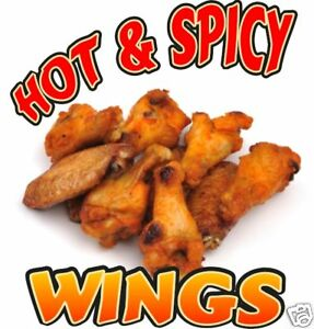 Chicken Hot Wings Decal 12 Restaurant Concession Food Truck Vinyl Sign Sticker
