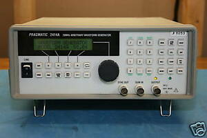 Pragmatic 2414a Arbitrary Waveform Generators Calibrated With 30 Day Warrenty