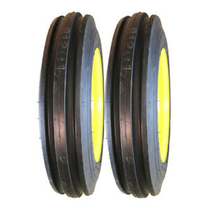 Two 4 00 12 John Deere Tractor Pulling Front Tires Wheels Rims Kit m