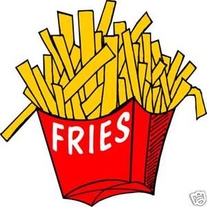 Fries French Fry Concession Restaurant Food Decal 12