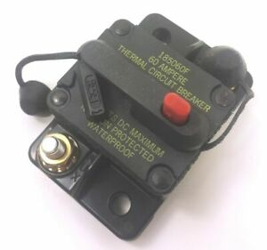 Bussman Dc Circuit Breaker 60 Amp Surface Mt 185060f