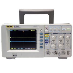 Rigol Ds1052e 50mhz Digital Oscope With 2 Channels Usb Storage Access