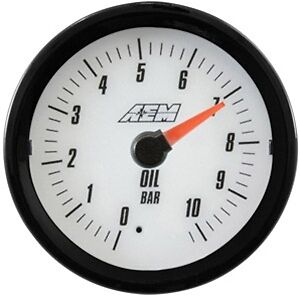 Aem Analog Oil Pressure Gauge 10 2bar 30 5135mw