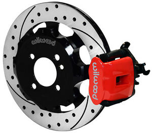 Wilwood Disc Brake Kit Rear Mini Cooper Bmw 11 75 Drilled Rotors Red Calipers
