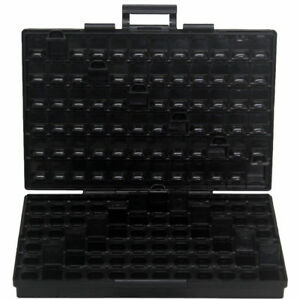 Aidetek Box all Anti Statics Smd Diode Organizer W 144 Compartments Lid Ic Chips