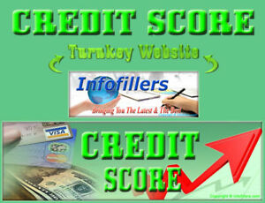 Credit Score Self Updating Turnkey Website Business New