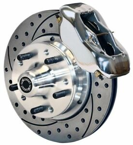 Wilwood Disc Brake Kit front 87 93 Mustang 11 Drilled Rotors polished Calipers