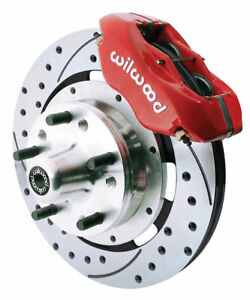 Wilwood Disc Brake Kit front 65 69 Mustang 12 red drld