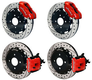 Wilwood Disc Brake Kit honda Civic crx 240mm 11 Drilled Rotors red Calipers