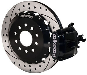 Wilwood Disc Brake Kit Rear Pb 94 04 Mustang 13 Drilled Rotors Black Calipers