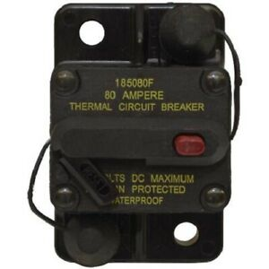Bussman Dc Circuit Breaker 80 Amp Surface Mt 185080f