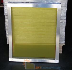 4 Pack 20 X 24 Size Aluminum Frame W 230 Tpi Yellow Mesh Printing Screens