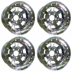 New 15x8 Beadlock Racing Wheel Set Chrome 5 X 5 3 Bs Bl7258050 30 Chevy Gmc