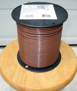 Thhn thwn 500 Ft 10 Awg Solid Copper Wire Brown