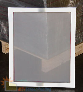 6 Pack New 20 x24 Aluminum Frame Printing Screens W 125 Tpi White Mesh