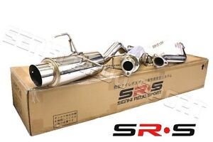 Srs Full T 304 Stainless Steel Catback Exhaust System 02 03 04 05 06 Rsx Non S