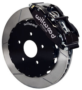 Wilwood Disc Brake Kit front 94 04 Ford Mustang 14 Rotors black Calipers