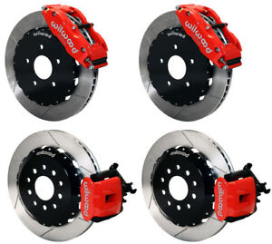 Wilwood Disc Brake Kit 94 04 Ford Mustang 14 13 Rotors red Calipers