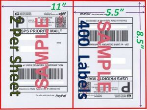 400 Self Adhesive Shipping Blank Labels 8 5x5 5 Paypal