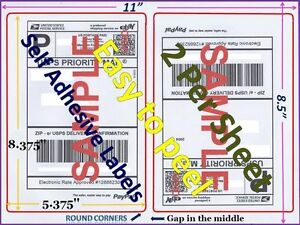 1000 Premium Rounded Corner Shipping Labels 2 Per Sheet 8 5 X 11 self Adhesive
