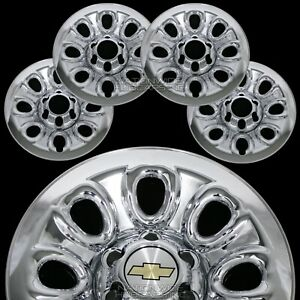 Set Of 4 Chevy 1500 6 Lug 17 Chrome Wheel Skins Rim Simulators Hub Caps Covers