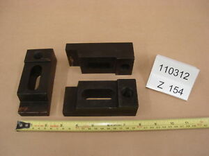 Injection Mold Clamps 1 5x2x4 75 Lot Of 3 Z154 Machinist Steel Step Clamps