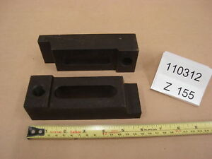 Injection Mold Clamps 1 5x2x6 Lot Of 2 Z155 Machinist Steel Step Clamps