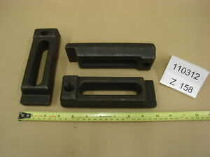 Injection Mold Clamps 1 44x2 25x7 Lot Of 2 z158 Machinist Steel Step Clamps