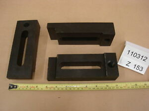 Injection Mold Clamps 1 5x2 5x7 Lot Of 2 Z153 Machinist Steel Step Clamps