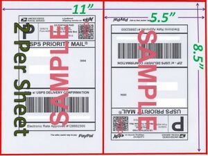 5600 Shipping Blank Labels 8 5x5 5 Paypal Self Adhesive