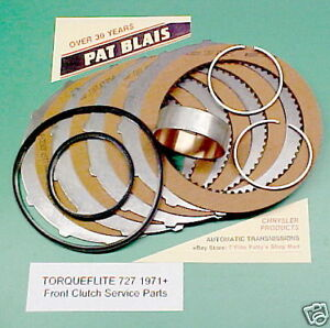 Torqueflite 727 Front Clutch Repair Parts Kit 1971