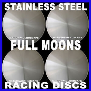 14 Full Moon Hot Rod Racing Disc Hub Caps Solid Wheel Covers Rims New Set Of 4